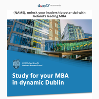 {NAME}, sharpen your skills with the Smurfit MBA!