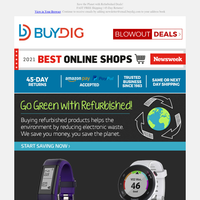 Save the Planet 🌎 and 💰 with Refurbished Goods: Tech, Fitness Trackers, Kitchen, Smart Home and More!