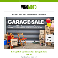 Vinomofo's GARAGE SALE is on now! 🚗 100+ wine deals to choose from!