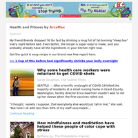 Health and Fitness for Monday April 26, 2021