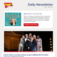 Photos: Go Inside Sutton Foster's BRING ME TO LIGHT Concert at NY City Center!