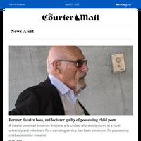 Former Brisbane theatre boss, uni lecturer guilty of possessing child porn