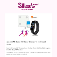 Get Xiaomi Mi Band 5 Fitness Tracker + Mi Smart Scale 2 Only for 12.9KD