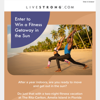 Enter to Win a Fitness Getaway in the Sun