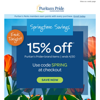 Just hours left for 15% off