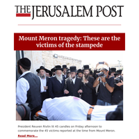 Mount Meron tragedy: These are the victims of the stampede
