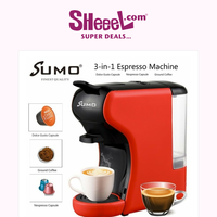 Enjoy Your Favorite Cup Of Coffee with Sumo 3 in 1 Multi-Capsule Coffee Machine Only for 22.9KD!