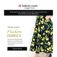 Trend alert- knit and print fashion fabrics