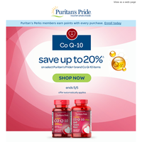 Hearty Savings on Co Q-10. Up to 20% off