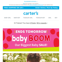 baby BOOM ends TOMORROW!