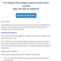📈 2 intense days of Trading Psychology education (must attend event)