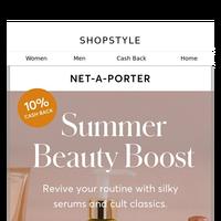 Beauty Boost (+10% Cash Back) at NET-A-PORTER