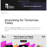 Join leaders from Verizon, Rare Beauty and MarketerHire tomorrow at The Future of Work!