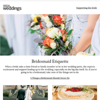 5 Things a Bridesmaid Should Never Do