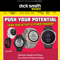 Push Your Potential | Fitness Trackers from Garmin, Suunto & More Top Brands!