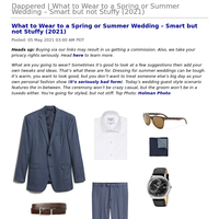 Dappered   What to Wear to a Spring or Summer Wedding – Smart but not Stuffy (2021)
