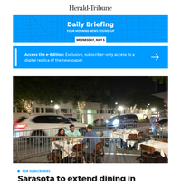 Daily Briefing: Sarasota to extend dining in parking spaces but at huge cost