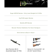 Rock Ultra 10mm $749, Delton Echo 316H Lite $579, Sig P320 XFull 9mm $679, Winchester SXP Extreme 12Ga $529, Baby Eagle III 9mm $699, Canik TP9SF $399