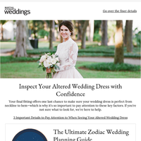 3 Important Details to Pay Attention to When Seeing Your Altered Wedding Dress