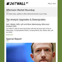 Wednesday Afternoon Analyst Calls, Facebook's Oversight Dilemma, and Tesla Doesn't Have the Best Mobile EV App
