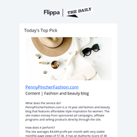 Fashion and beauty blog makes $4,049 p/mo + 2 Hot New Listings
