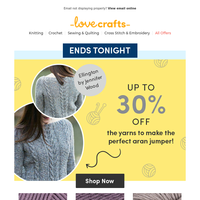 The art of the aran jumper - last chance to save on your makes
