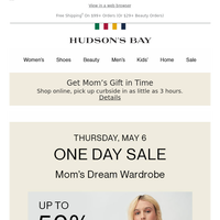 TODAY ONLY: Up to 50% Off Women's Clothing