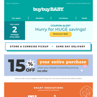 You just got coupons! Innovative picks + 15% off entire order on curbside pickup.
