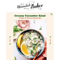 NEW! Creamy Vegan Cucumber Salad (German-Inspired)