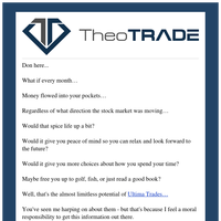 Trader, Income worries... gone?