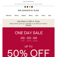 This women's sale is gone tomorrow