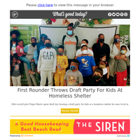 Feel Good Friday: First Rounder Throws Draft Party for Kids