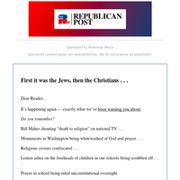 First It Was The Jews, Then Christians Came Next . . .