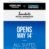 Sandals Royal Barbados - Opens May 14th