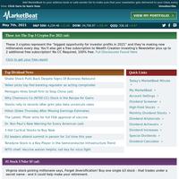 🌎 MarketBeat Dividend Advisor for 5/7/2021