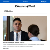 Hayne's first night in jail | Budget win for single parents | 'I went to my own funeral'