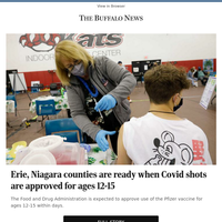 Erie, Niagara counties are ready when Covid shots are approved for ages 12-15