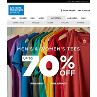 Up to 70% OFF Tees