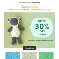 Ready for your next cotton project? 30% off inside...