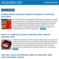 Global Nation: More fallen Filipinos on U.S. Covid front lines; U.S. administers 252 million doses of COVID-19 vaccines – CDC; PH-born chef to lead top Seattle fine-dining restaurant Canlis