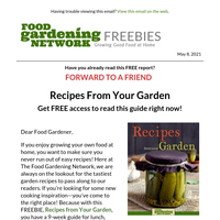 Get FREE Garden Recipes Now!