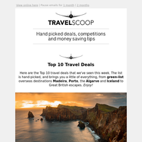 Weekly Top 10 Travel Deals - May 8th
