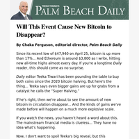 Will This Event Cause New Bitcoin to Disappear?