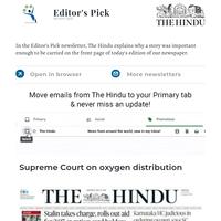 Editor's Pick: Supreme Court on oxygen distribution