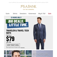 12 Hours Only! Traveler & Travel Tech Suits starting at $79!