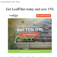 SPRING SPECIAL | Get 15% off gutter protection