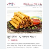 Crunchy Homemade Spring Rolls