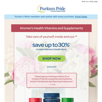 This Weekend ONLY>> Save on Women's Health