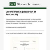 Groundbreaking News Out of Amazon HQ