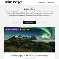 Our Sunday best: Captivating Northern Lights, majestic whales and enchanting landscapes, inc. buffet breakfast & flights